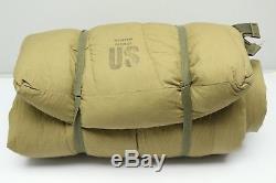 1967 Vietnam Era US M-1949 Mountain Sleeping Bag Down Filled Mummy Zip Regular