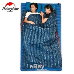 570g 2/8 Ultralight Envelope Sleeping Bag Goose Down Camping Sleeping Bags HL