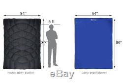 80x54 Sleeping Bag Battery-operated Heated Down Camping Blanket Sleeping Bag