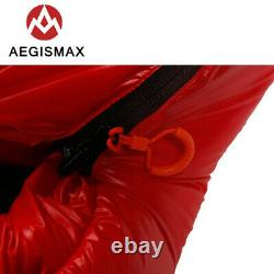 AEGISMAX 0° F Down Mummy Sleeping Bag Adult Thicken for Winter Camping Tent Warm