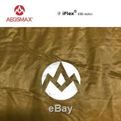 AEGISMAX 95% White Goose Down Sleeping Bag Fan Shape 3 Season Ultralight Camping