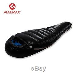 AEGISMAX Cold Winter 15 Degree Goose Down Mummy Single Hiking Sleeping Bag M/L