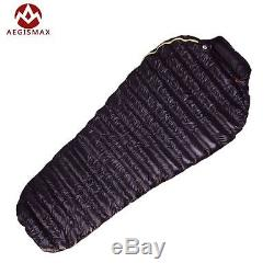 AEGISMAX Goose 95% Goose Down Winter Mummy Sleeping Bag With Carrying Case
