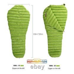 AEGISMAX Goose Down Sleeping Bag Mummy Type 3 Seasons Ultralight Travel Bag