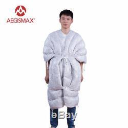 AEGISMAX TINY Ultra-Light Goose Down Sleeping Bag Outdoor Camping Envelope Gray