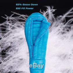 AEGISMAX ULTRA 95% Goose Down Mummy Sleeping Bag Winter Extreme Cold Weather