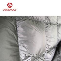 AEGISMAX Ultralight 90% White Duck Down Envelope Sleeping Bag Camping Hiking