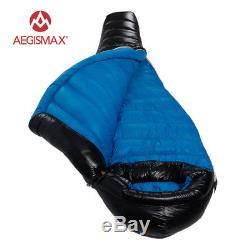 AEGISMAX Ultralight 90% White Duck Down Mummy Camping Climbing Sleeping Bag