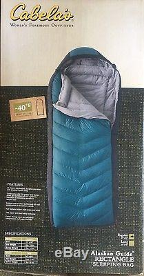 Awesome Cabelas Alaskan Guide Rectangle Regular -140° Down Sleeping Bag