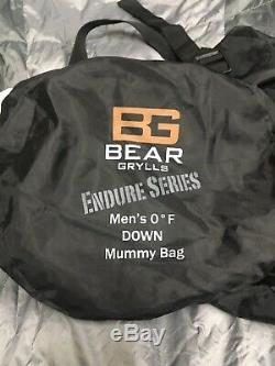 Bear Grylls Endure Series Mens Zero Degree Down Mummy Sleeping Bag