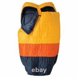 Big Agnes Big Creek 30 (FireLine ECO) Sleeping Bag, Double W -YellowithOrange/Navy