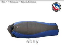 Big Agnes Down Sleeping Bag Battle Mountain rated at minus -15F LONG R. Zip