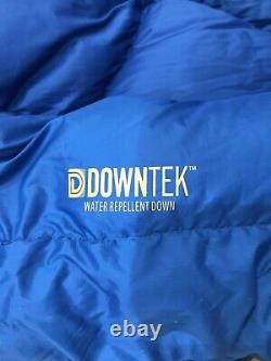 Big Agnes Sentinel 30 Blue/Yellow Double Wide 2-Person Sleeping Bag USED