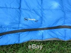 Big Agnes Sleeping Bag Goose Down, pad liner, Excellent Condition Yampa 45 Degre