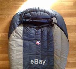 Big Agnes Summit Park 15 600-Fill Down Sleeping Bag Regular/Left Lake/Gray