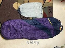 Big Agnes Women's Mirror Lake 20 deg. Mummy Sleeping Bag Regular Fit. Down
