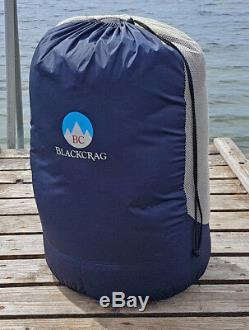 BlackCrag Hungarian Goose Down Sleeping Bag 10D KOLON Luxury Nylon