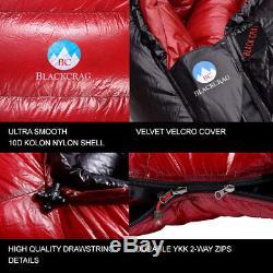 BlackCrag Hungarian Goose Down Sleeping Bag 1,200 Gram Fill 7D Nylon
