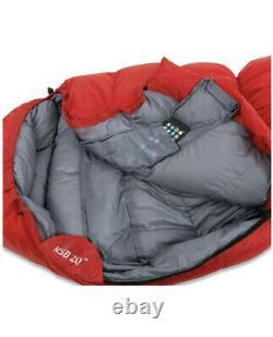 Brand New Klymit KSB 20 Down Sleeping Bag, Black 82in. X 30in Red