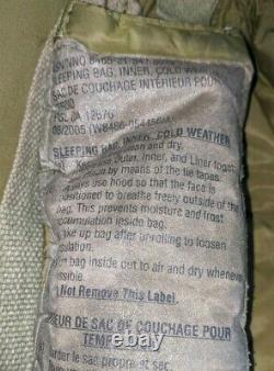 Canadian army 7 piece Cold weather arctic sleeping bag system down filled, hood