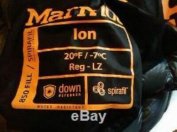 Down sleeping bag used