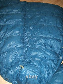 Down sleeping bags Lot of 2 zip together for a double Vintage VG