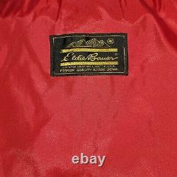 Eddie Bauer Red/Yellow Goose Down Sleeping Bag Extrem Cold W Hood Zippered Mummy