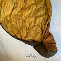 Eddie Bauer Vintage 70's Puffy Down Mummy Sleeping Bag Earth Tone Multi Color