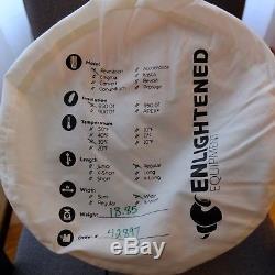 Enlightened Equipment Revelation 850DT 30° Down Quilt Sleeping Bag Orange Black
