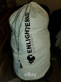 Enlightened Equipment Revolution Apex 20f Reg Wide sleeping bag 10d black