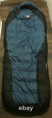 Excellent Big Agnes Lost Ranger 15 Degree Down Sleeping Bag with Cloth Logo Sack