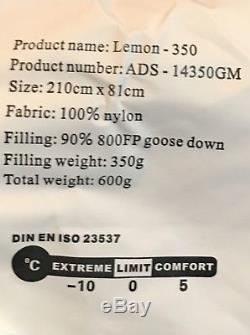 Extremly Ultralight Goose Down Sleeping Bag 800fill 1lb 5oz