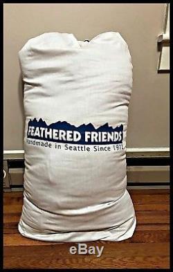 Feathered Friends Lark UL Down Sleeping Bag 10 Degree 900 Fill Granite Regular