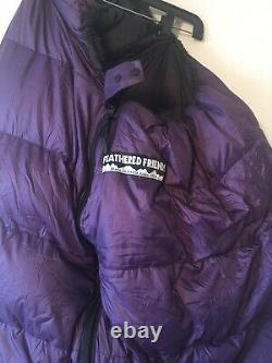 Feathered Friends-down-mummy- sleeping bag(75X27)purple/black