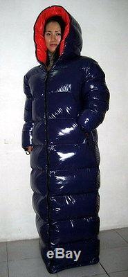 Glossy Shiny Nylon Wetlook Down Coat Winter Jacket