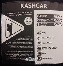Goose Down Sleeping Bag Bask Kashgar -60° (-76°F) Extreme Warmest EN Testing