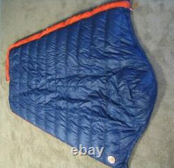 H. G. A. White Goose Down A16 Sleeping Bag 82 With Hood Zero Degrees + Stuff Sack