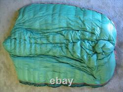 H. G. A. White Goose Down A16 Sleeping Bag 84 With Hood Zero Degrees 2 Zippers