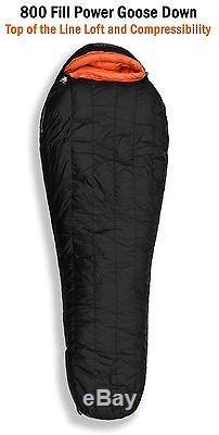 Hyke & Byke Down Sleeping Bag Eolus 800 Fill Power 0 Degree Black size Regular