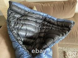 Katabatic Gear Ultralight down quilt sleeping bag with 4oz overfill to extend 0F