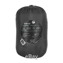 Klymit KSB 20 Degree Down Sleeping Bag with Strech Baffles, Black