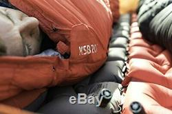 Klymit KSB 20 Degree Down Sleeping Bag with Stretch Baffles, Red 13KBRD01C