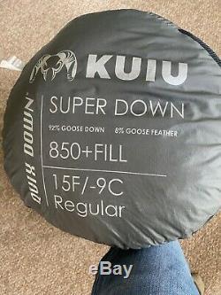 Kuiu regular size 15 degree down sleeping bag