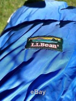 LL Bean Goose Down Sleeping Bag Rectanglar Adult Blue 20 Deg