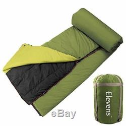 Lightweight Battery Operated Heated Down Camping Blanket Sleeping Bag Alte GREEN