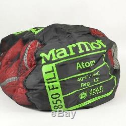 MARMOT $249 ATOM Down 40F Sleeping Bag / Regular LZ
