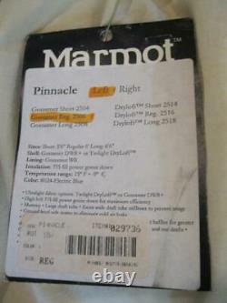 MARMOT 775 GOOSE DOWN MUMMY SLEEPING BAG LEFT ZIP Pinnacle Gossamer REG 2506 EXC
