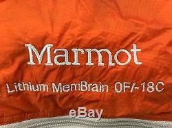 MARMOT LITHIUM MEMBRAIN 0 Degree 850 Certified Goose Down Sleeping Bag