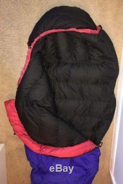 MARMOT Sawtooth Long Mummy Down Sleeping Bag and Compression Stuff Sack