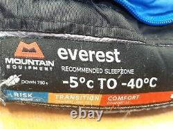 MOUNTAIN EQUIPMENT EVEREST DOWN SLEEPING BAG -40c XL long version